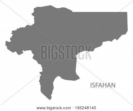 Isfahan Iran Region Map Grey Illustration Silhouette Shape