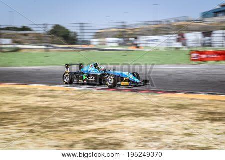Vallelunga, Rome, Italy. June 24 2017. Italian Formula 4 Abarth Championship, Driver Giorgio Carrara