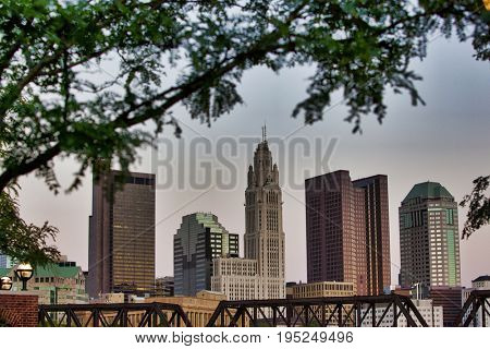 Columbus, Ohio as viewed from Northbank Park