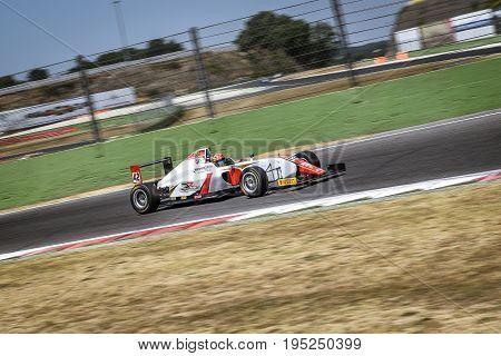 Vallelunga, Rome, Italy. June 24 2017. Italian Formula 4 Abarth Championship, Driver Artem Petrov Du