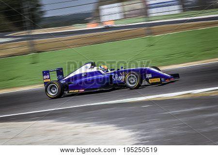 Vallelunga, Rome, Italy. June 24 2017. Italian Formula 4 Abarth Championship, Driver Leonard Hoogenb
