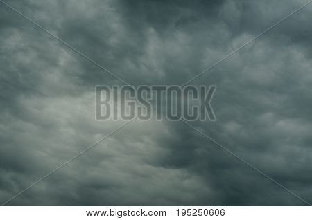 The sky is covered with heavy clouds breathes freshness sadness and hope