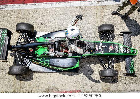 Vallelunga, Rome, Italy. June 24 2017. Italian Formula 4 Abarth Championship, Driver Ian Rodriguez H