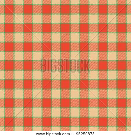 Warm toned colored tartan homely cubic texture seamless pattern