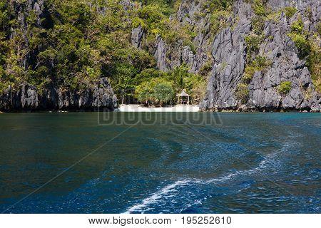 Waterscape in El Nido,Bacuit bay, Palawan island, Palawan province, Philippines