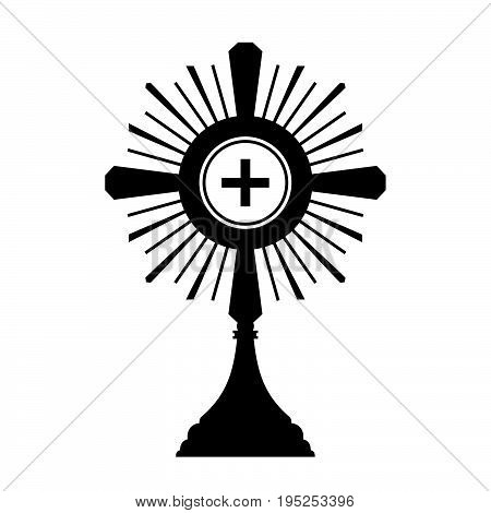 Monstrance, also known as an ostensorium (or an ostensory), is the vessel used in Roman Catholic