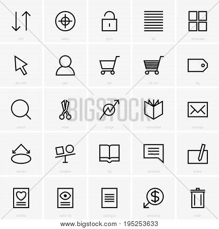 Set of twenty five web site icons