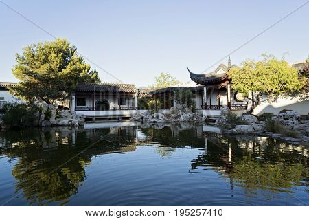 Santa Lucija - July 7: Chinese Garden of Serenity in Malta, July 7, 2017 in Santa Lucija, MALTAThe Chinese Garden of Serenity is a lovely Chinese Garden situated in Santa Lucija in the South of Malta and has been open to the public since 1997