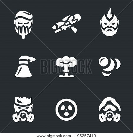Cyborg, blaster, man, cooling tower, nuclear explosion, mutation, radiation, toxic, stalker.