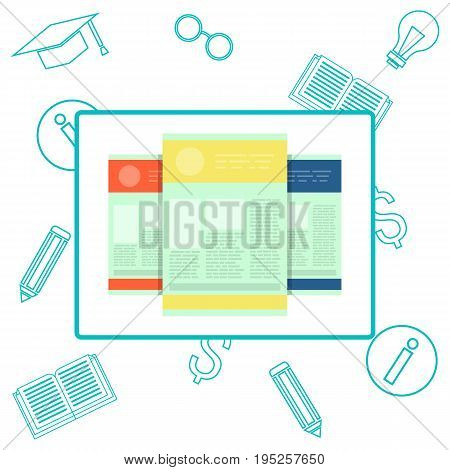 idea of education test, questionnaire, document vector illustration flat style