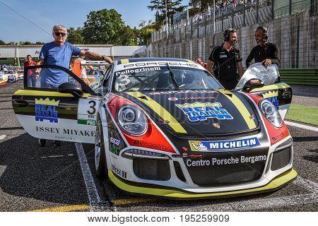 Vallelunga, Rome, Italy. June 24 2017. Italian Porsche Carrera Cup Simone Pellegrinelli Racing Drive