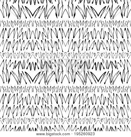 Abstract seamless pattern. Zigzag ornament. Ink illustration. Hand drawn ornament for wrapping paper.