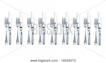 cutlery for entertaining - isolated on white