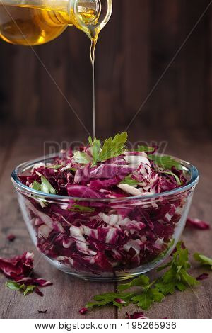Salad With Red  Cabbage.