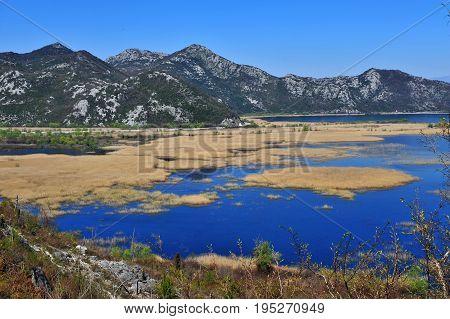 View of Skadar national park Virpazar resort Montenegro