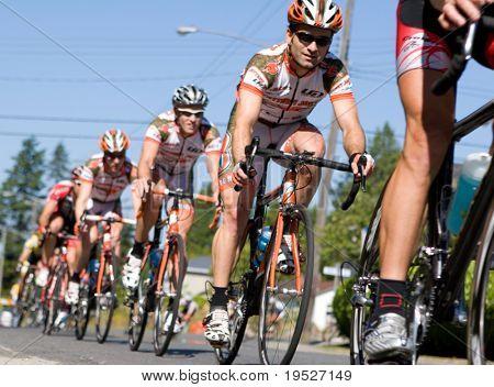 White Rock, B.C., Canada, Jul 18th - cyclists in the Tour de White Rock Cycling Race, July 18, 2008
