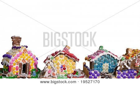 gingerbread houses - isolated on white