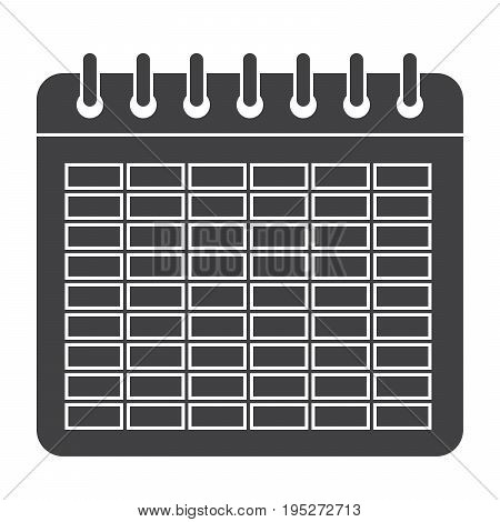 School timetable for students or pupils, vector silhouette