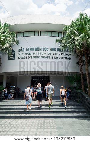 Hanoi, Vietnam - August 16, 2015: the Vietnam Museum of Ethnology showcases the 54 ethnic groups of Vietnam.
