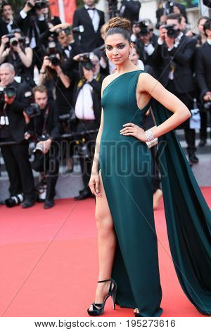 CANNES, FRANCE - MAY 18, 2017: Deepika Padukone attends the 'Nelyobov (Loveless)' screening during the 70th annual Cannes Film Festival