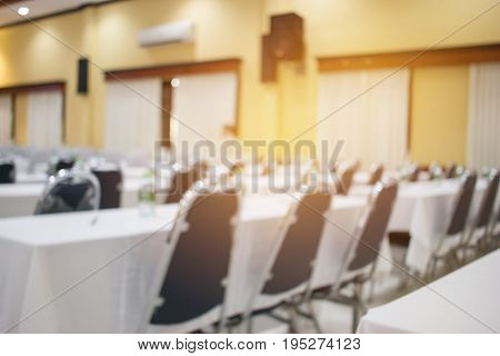 blurred of indoor business conference meeting room