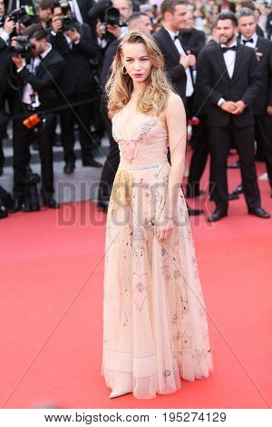Svetlana Ustinova attends the 'Nelyobov (Loveless)' screening during the 70th Cannes Film Festival at Palais des Festivals on May 18, 2017 in Cannes, France.