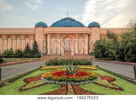 Almaty Kazakhstan - July 14 2017: The Central State Museum of Kazakhstan was built in the city of Alma-Ata in 1985.