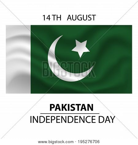Flag of Pakistan. Pakistan Independence Day. Stock vector