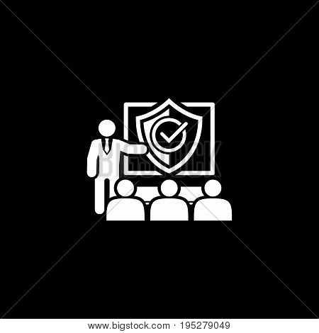 Security Briefing Icon. Business Concept Flat Design. Isolated Illustration.