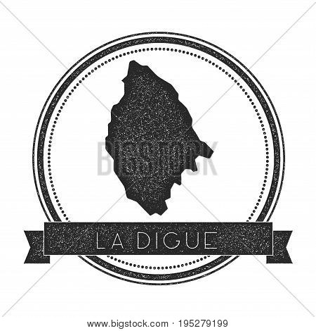 La Digue Map Stamp. Retro Distressed Insignia. Hipster Round Badge With Text Banner. Island Vector I