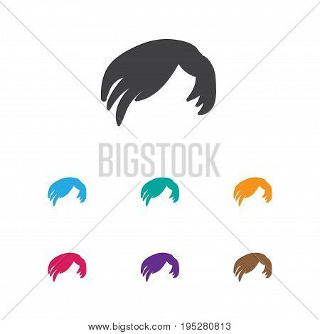 Vector Illustration Of Coiffeur Symbol On Hair Style Icon. Premium Quality Isolated Hairdressing Element In Trendy Flat Style.