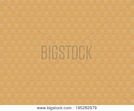 Background natural yellow sand color of a wooden shamon with light squares inserts in checkerboard pattern