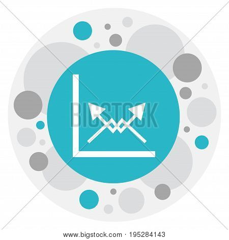 Vector Illustration Of Logical Symbol On Diagram Icon. Premium Quality Isolated Schema Element In Trendy Flat Style.