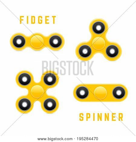 Hand Fidget Spinner Toy. Stress And Anxiety Relief