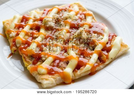southern flat bread of roti and pizza