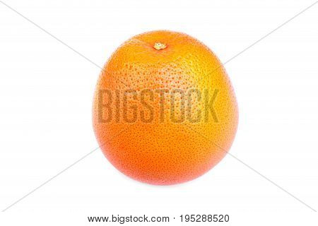Bright orange ripe, juicy, organic citrus, isolated on a white background. Nutritious, juicy and delicious orange. Tropical and exotic fruits. Healthy and tasty food.