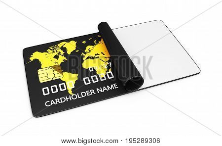 Bank Card, Credit Card, Discount Card With Place For Text, 3D Illustration