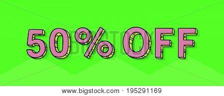 50 Percent Discount Vector Tag