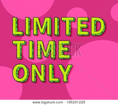 Limited Time Only Vector Tag