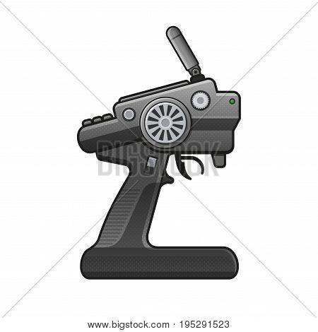 RC Car Radio Control Icon on white background. vector illustration