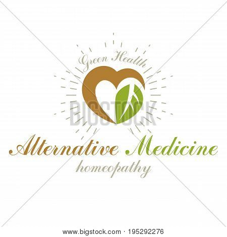 Heart shape vector symbol can be used as wellness center abstract modern logotype in medical treatment organizations. Healthy lifestyle is strong heart.