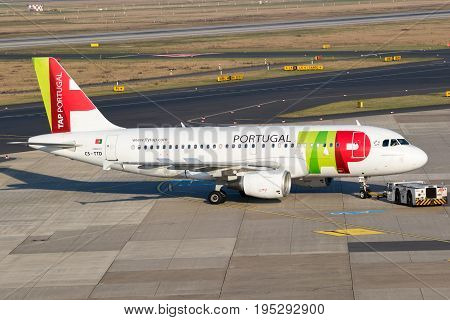 Airbus A-319 Plane From Tap Air Portugal Airline