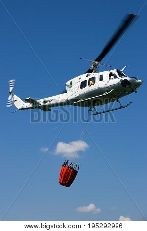 Bush Fire Fighting Helicopter