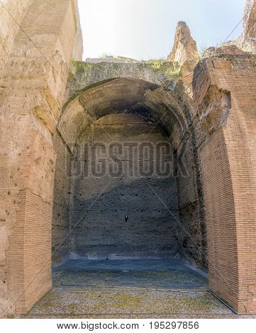 Baths of Caracalla, ancient ruins of roman public thermae built by Emperor Caracalla in Rome, Italy