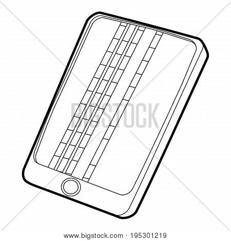 Gadget matrix screen deffect icon. Outline illustration of gadget matrix screen deffect vector icon for web design