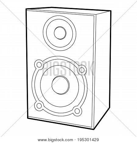 Speaker icon. Outline illustration of speaker vector icon for web design