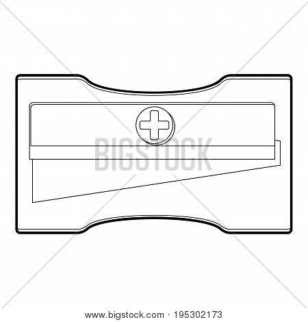 Sharpener icon. Outline illustration of sharpener vector icon for web design