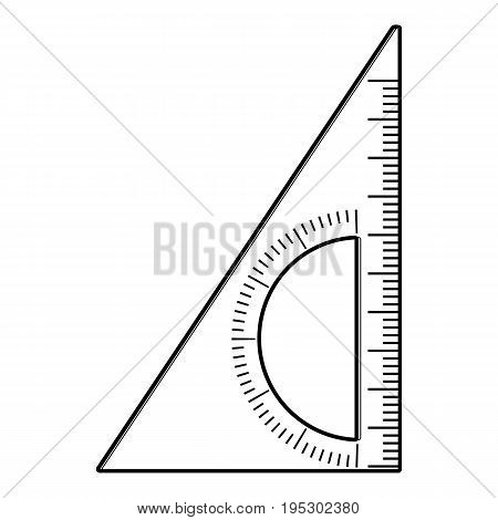 Ruler angle icon. Outline illustration of ruler angle vector icon for web design