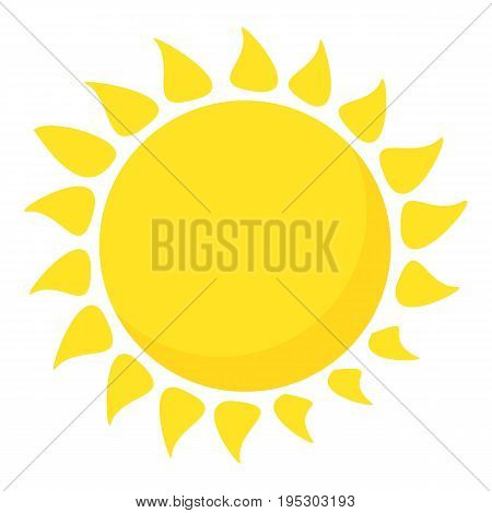 Hot sun icon. Cartoon illustration of hot sun vector icon for web design