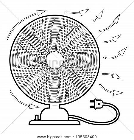 Fan icon. Outline illustration of fan vector icon for web design